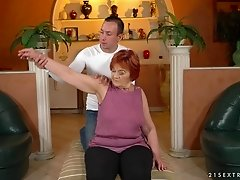 Marsha is a horny grandma seduced for a hot sex session