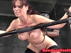 Busty MILF interracially pounded doggystyle