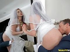 Bride to be Skyla Novea gets a rough fuck before the wedding