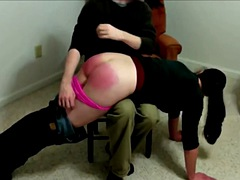 domestic discipline. katie spanked with the hairbrush