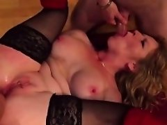 French lady Eden gangbanged by few cocks