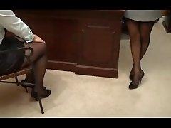 Worship my Nylon Feet or Lose your Job