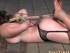 Classy woman gets in bondage and simply loves it deeply