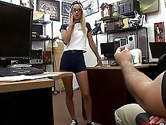 Tight blonde babe fucked by pawn dude