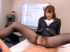 In nature's garb oriental beautiful girl in office sex