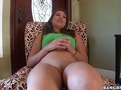 Latina Babe from Colombia Sucks at her Job Interview