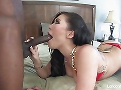 London Keyes takes some black cock up her ass