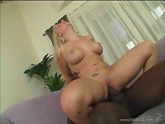 Fascinating Blonde With Long Hair Licking Big Cock