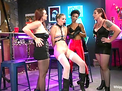 BDSM fetish lesbian foursome with Mona Wales and her slutty girls