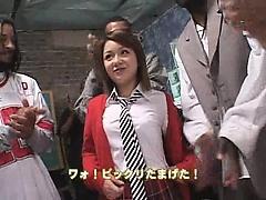 Hardcore Asian babe enjoys some really hot group sex