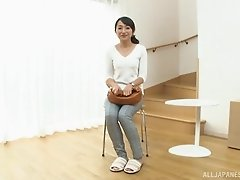 Takita Eriko shows off her holes before a sex session