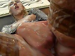 Fake cum for slutty Jenny Simons