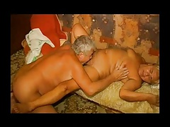 Fat lusty granny gets her hairy cunt licked and fucked R20
