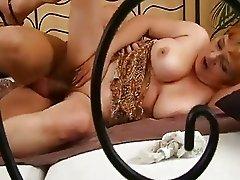 Busty Granny Slut Fucked Hard