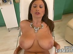 Three horny and busty babes suck big cocks on a pov camera