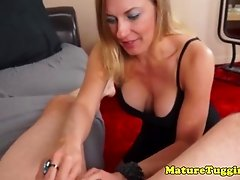 Mature cocklover tugging a dick in pov mode