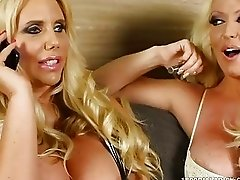 800DAD Big Tit MILFs Karen Fisher and Alura Jenson share Gigolo Cock