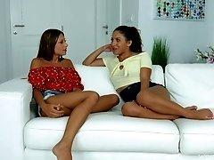 Liv Revamped and Talia Mint talk about lesnbian sex backstage