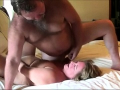 Lustful mature wife sucks a dick and receives a hot facial