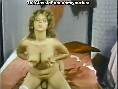 Amazing bosomy babes Becky Savage, Busty Belle, Candy Samples in vintage video