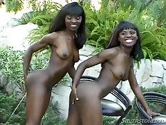 Black babes Mocha and Chocolate share a big black dick
