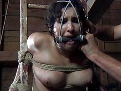 Dick sucking slave girl got destroyed with ropes BDSM porn