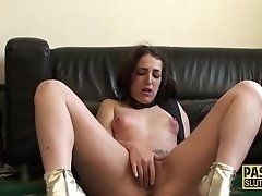 Tied sub fucked n whipped