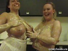 Wanessa Lilio And Aneta Buena Gets Messy For A Lesbian Action In The Kitchen