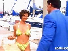 Bonerific Brunette Catherine Bell Wearing a Super Sexy Bikini