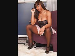 Ebony Legs in Pantyhose Part5