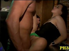 Ladies at party want to suck