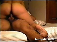 Latin wife with big booty riding cock
